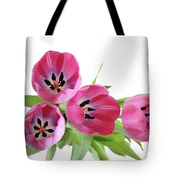 Tote Bag featuring the photograph Happy Pink by Marie Leslie