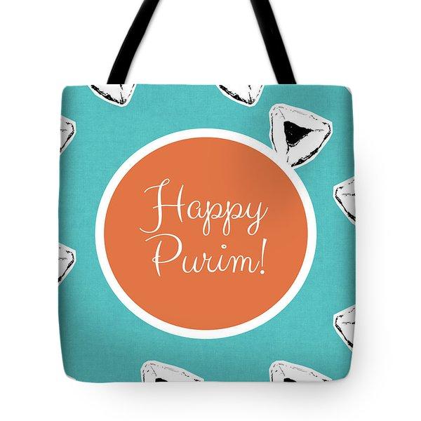 Tote Bag featuring the mixed media Happy Purim Hamentashen- Art By Linda Woods by Linda Woods