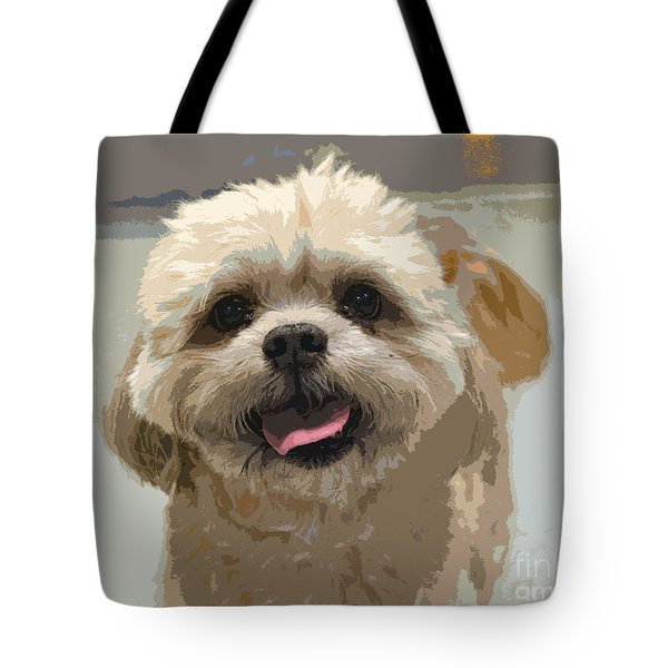 Happy Shih Tzu Tote Bag
