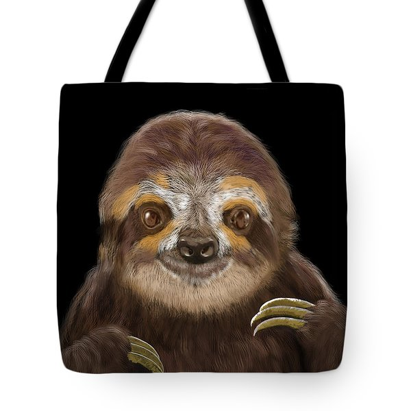 Happy Three Toe Sloth Tote Bag