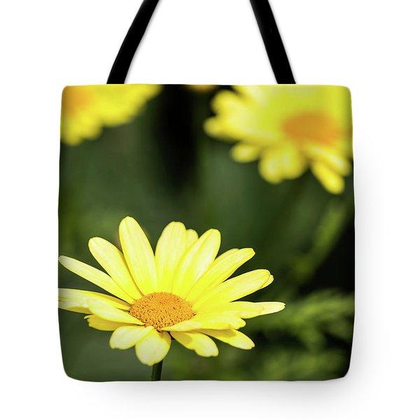 Happy Summer Flowers Tote Bag