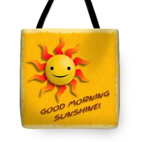 Happy Sun Face Tote Bag