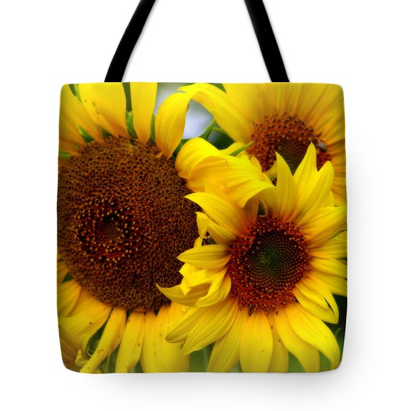 Tote Bag featuring the photograph Happy Sunflowers by Kay Novy