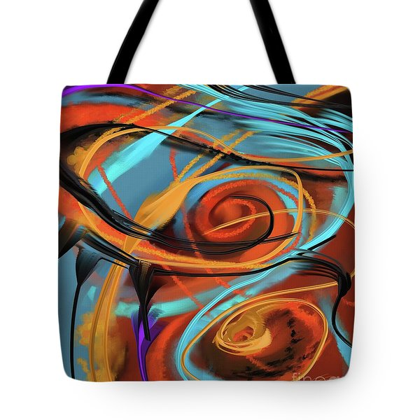 Tote Bag featuring the painting Happy by S G