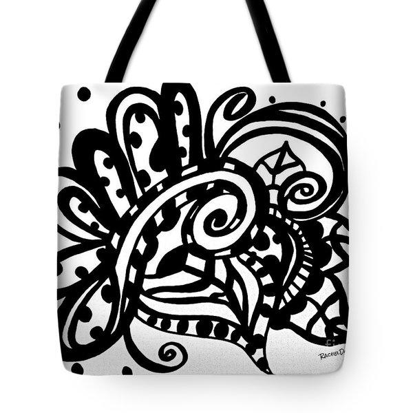 Happy Swirl Doodle Tote Bag