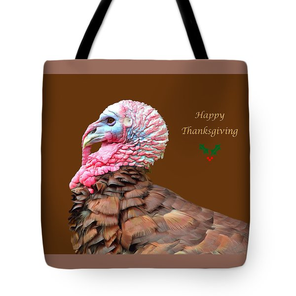 Happy Thanksgiving Tote Bag by Marion Johnson