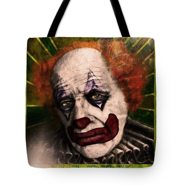 Tote Bag featuring the digital art Happy The Clown by Jeremy Martinson
