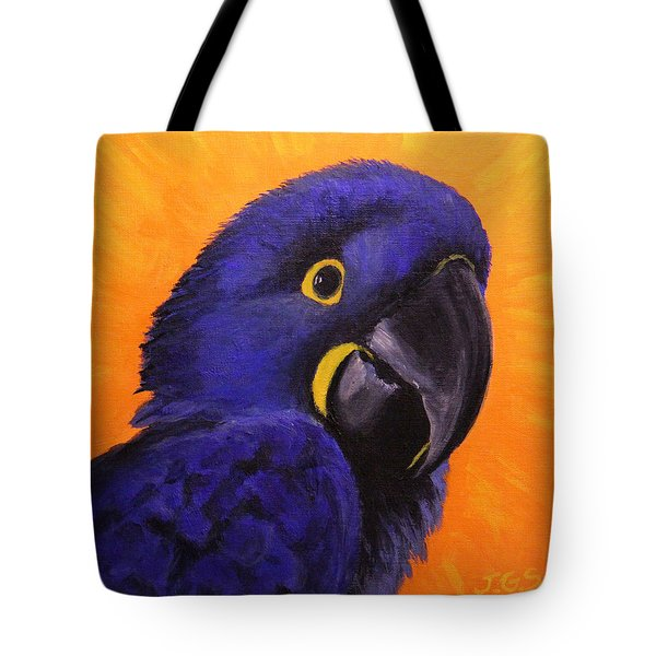 Happy The Hyacinth Macaw Tote Bag