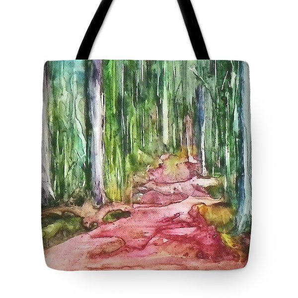 Tote Bag featuring the painting Happy Trail by Anna Ruzsan