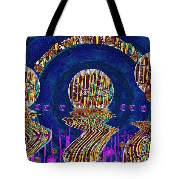 Happy Under The Rainbow Vintage Tote Bag by Pepita Selles