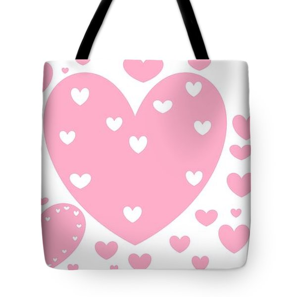 'just Hearts' Tote Bag by Linda Velasquez