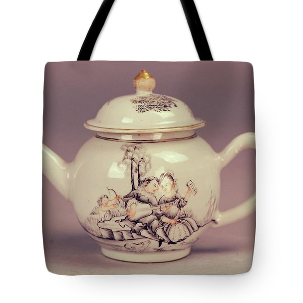 Happy Valentines Day Lovers Tea Pot Tote Bag