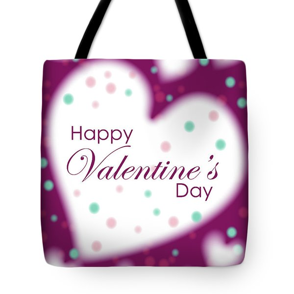 Happy Valentine's Day Tote Bag by Hye Ja Billie