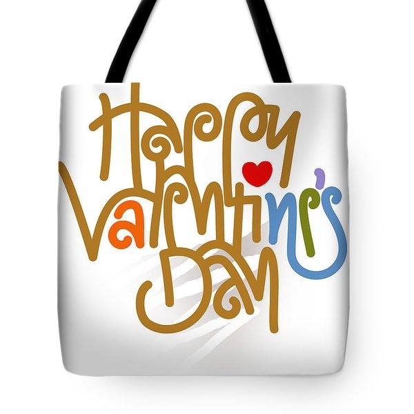 Happy Valentine's Day Poster Tote Bag