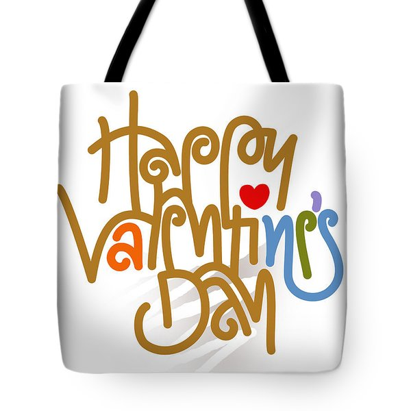 Happy Valentine's Day Poster Tote Bag