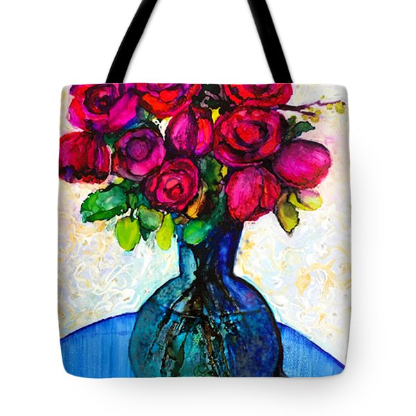 Tote Bag featuring the painting Happy Valentine's Day by Priti Lathia
