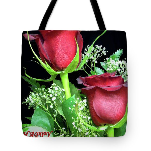 Tote Bag featuring the photograph Happy Valentines Day by Sandi OReilly