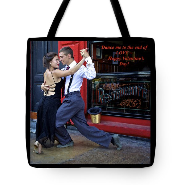 Happy Valentine's Day From Argentina Tote Bag