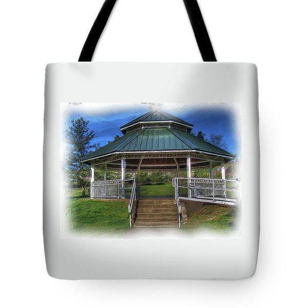 Tote Bag featuring the photograph Happy Valley Gazebo Art  by Thom Zehrfeld
