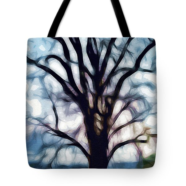 Tote Bag featuring the digital art Happy Valley Tree by Holly Ethan