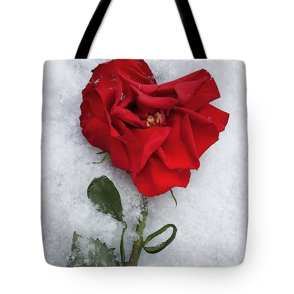 Snow Valentine Tote Bag