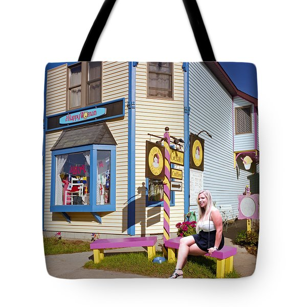 Happy Woman Tote Bag