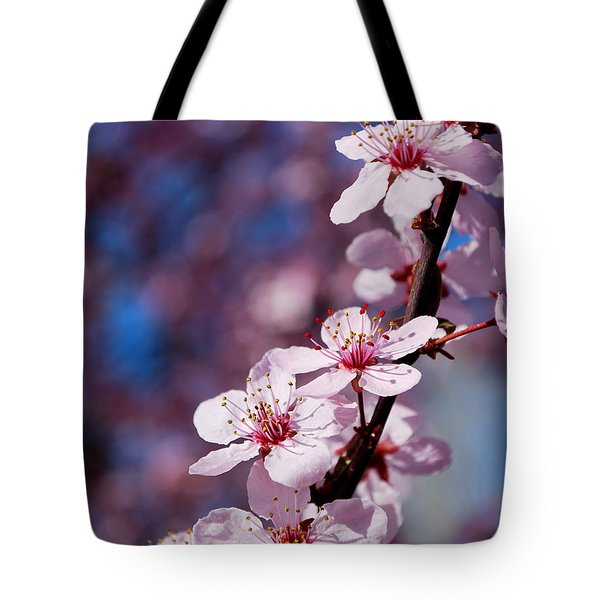 #happyfirstdayofspring Tote Bag by Becky Furgason