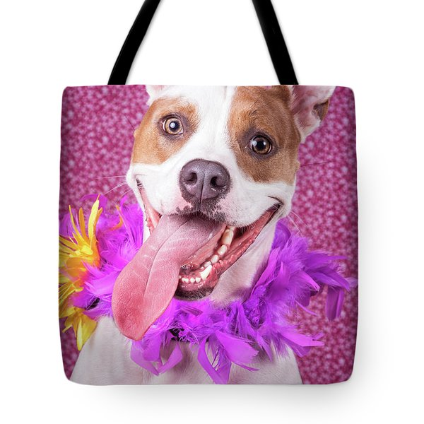 Hapy Dog Tote Bag by Stephanie Hayes