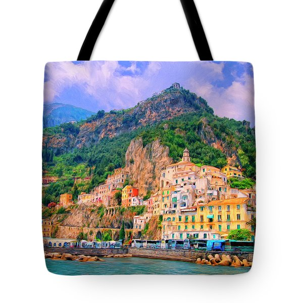 Harbor At Amalfi Tote Bag