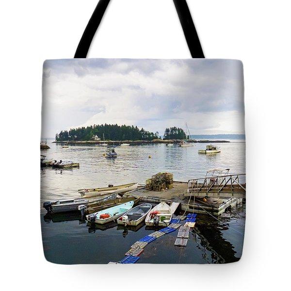 Harbor At Georgetown Five Islands, Georgetown, Maine #60550 Tote Bag
