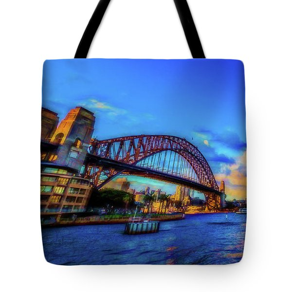 Tote Bag featuring the photograph Harbor Bridge by Perry Webster