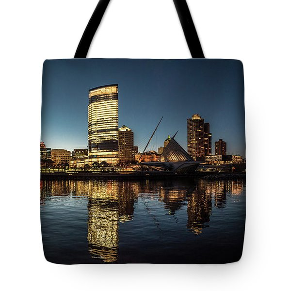 Tote Bag featuring the photograph Harbor House View by Randy Scherkenbach