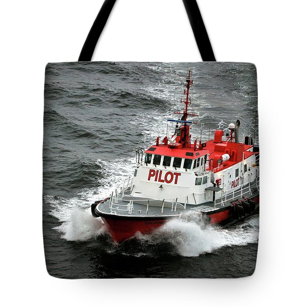 Tote Bag featuring the photograph Harbor Master Pilot by Allen Carroll