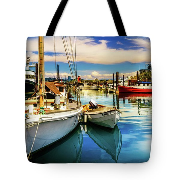 Harbor On Guemes Channel Tote Bag