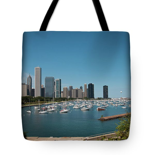 Harbor Parking In Chicago Tote Bag