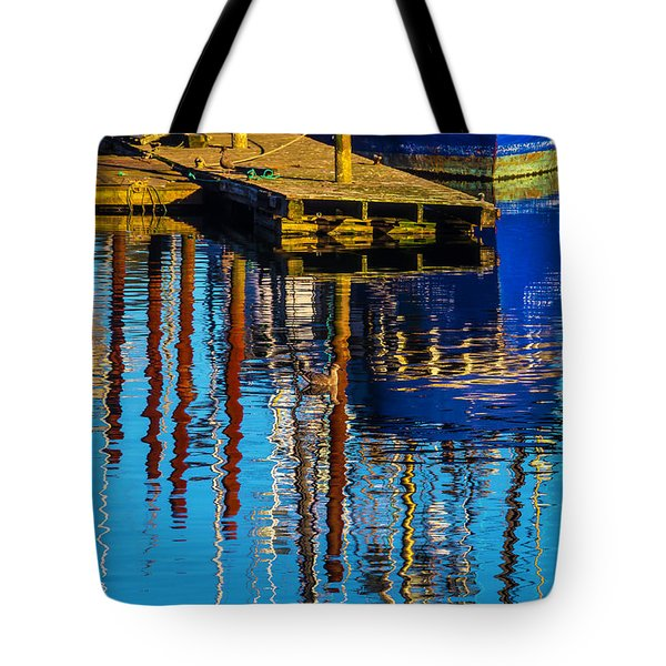 Harbor Reflections Tote Bag by Garry Gay