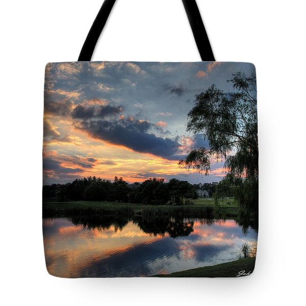 Harbor Reflections Tote Bag by John Loreaux