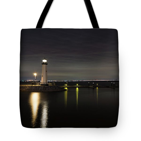 Harbor Rockwall Lighthouse Tote Bag