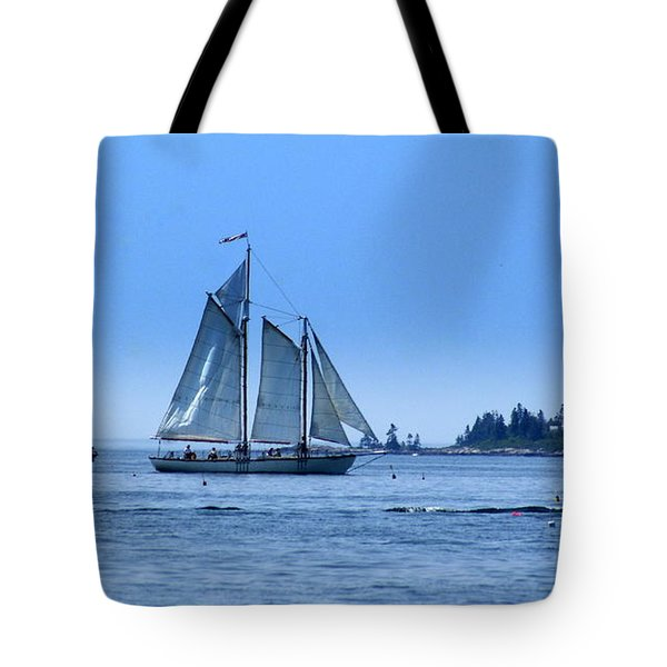 Harbor Schooner Tote Bag