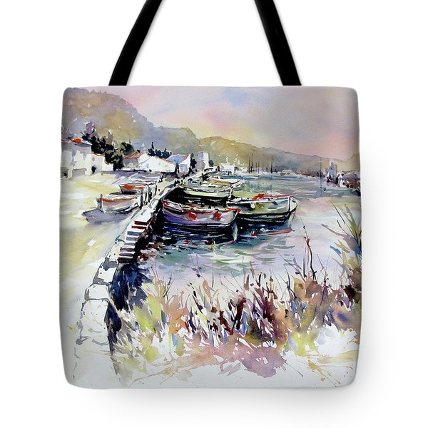Harbor Shapes Tote Bag