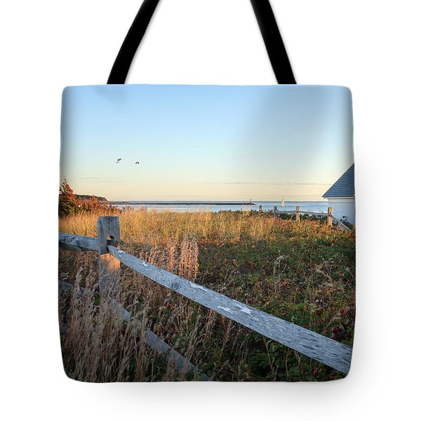 Harbor Shed Tote Bag by Bill Wakeley