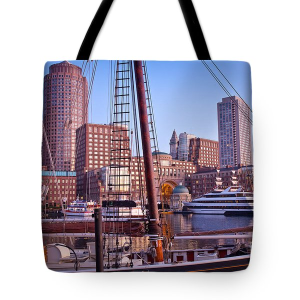 Harbor Sunrise Tote Bag by Susan Cole Kelly