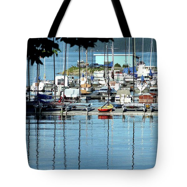 Tote Bag featuring the photograph Harbor View by Emanuel Tanjala