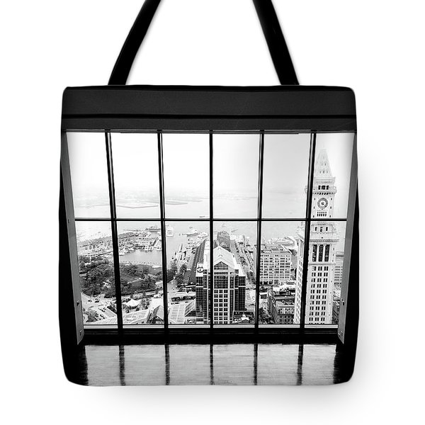 Tote Bag featuring the photograph Harbor View by Greg Fortier