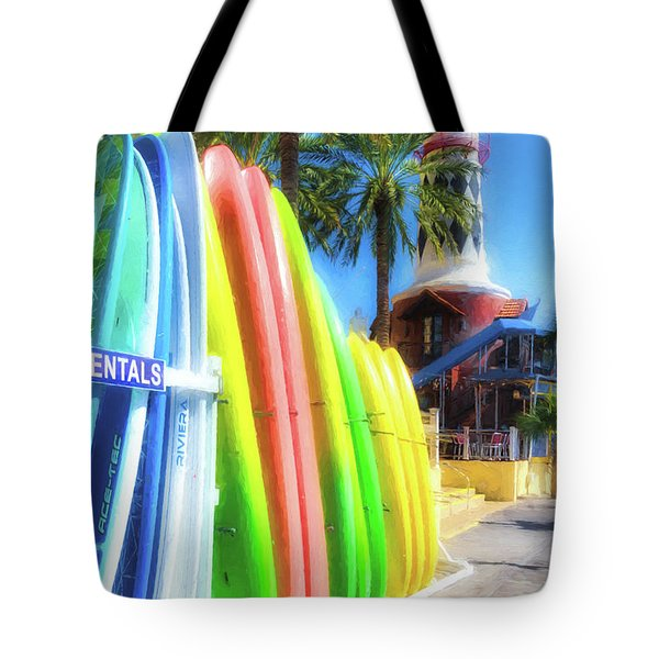 Tote Bag featuring the photograph Harbor Walk At Destin Florida by Mel Steinhauer