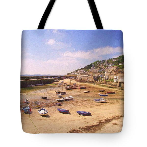 Harbour At Low Tide - Mousehole Tote Bag