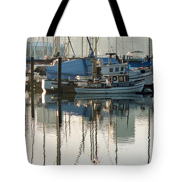 Harbour Fishboats Tote Bag