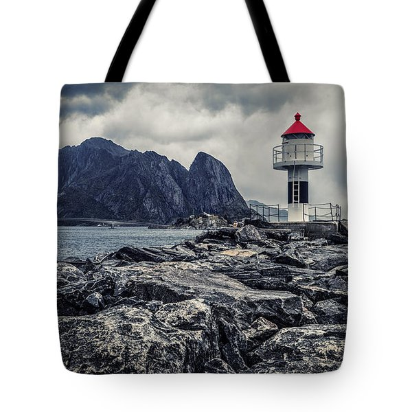 Tote Bag featuring the photograph Harbour Lighthouse by James Billings