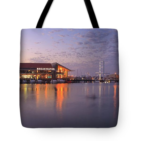 Tote Bag featuring the photograph Harbour Lights, Hillarys Boat Harbour by Dave Catley