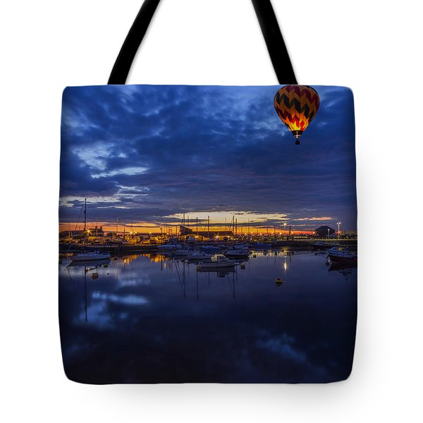 Harbour Night Flight Tote Bag by Ian Mitchell